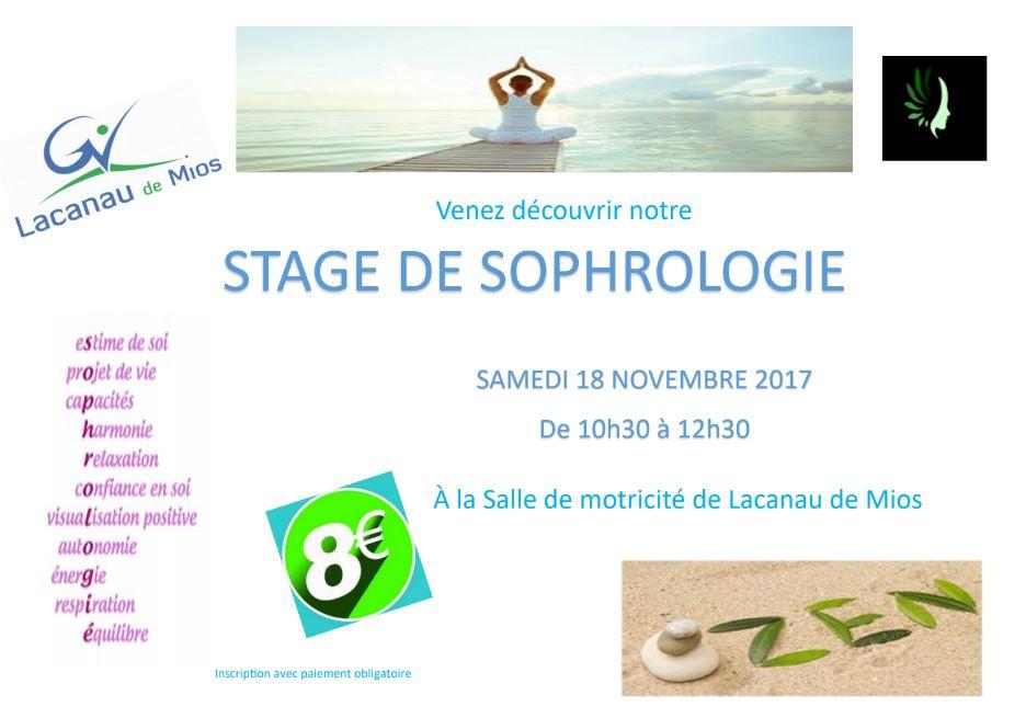 Affiche stage sophrologie 1