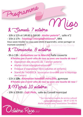 Octobre rose à Mios